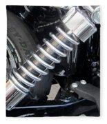 Harley Engine Close-up 2 Fleece Blanket