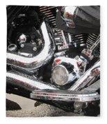 Harley Engine Close-up Rain 2 Fleece Blanket