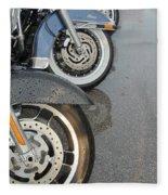 Harley Line Up Rain Fleece Blanket