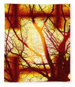 Harmonious Colors - Sunset Fleece Blanket