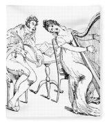 Harmony Before Matrimony, 1886 Fleece Blanket