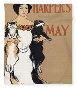 Harper's, 1897 Fleece Blanket