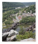 Harpers Ferry Viewed From Maryland Heights Fleece Blanket