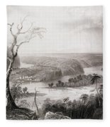 Harpers Ferry, West Virginia, From The History Of The United States, Vol. II, By Charles Mackay Fleece Blanket