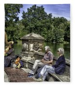 Harpist - Central Park Fleece Blanket