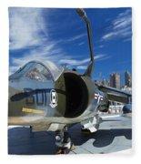 Harrier At Interpid Museum Fleece Blanket