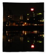 Harrisburg Night Lights Fleece Blanket