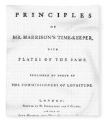 Harrison Timekeeper Fleece Blanket