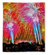 Hart Plaza Fireworks Fleece Blanket