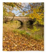 Hartford Bridge In Autumn Fleece Blanket