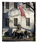 Harvard Statue Fleece Blanket