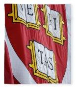 Harvard Veritas Banner Fleece Blanket