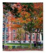 Harvard Yard Fall Colors Fleece Blanket