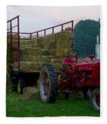 Harvest Time Tractor Fleece Blanket