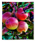 Harvesting Apples Fleece Blanket