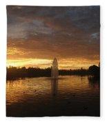 Harveston Lake Sunset Fleece Blanket