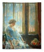 Hassam's The New York Window Fleece Blanket