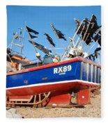Hastings Fishing Boat Fleece Blanket