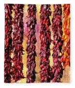 Hatch Red Chili Ristras Fleece Blanket