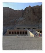 Hatshepsut Temple 06 Fleece Blanket