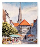 Hattingen Germany Fleece Blanket