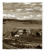 Hatton Ranch Carmel Valley From Highway One California  1940 Fleece Blanket