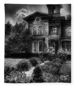 Haunted - Haunted House Fleece Blanket