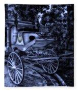 Haunted Mansion Hearse At Midnight New Orleans Disneyland Fleece Blanket