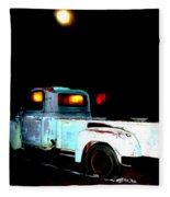Haunted Truck Fleece Blanket