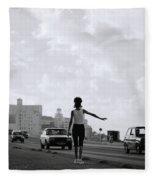 Havana Woman Fleece Blanket