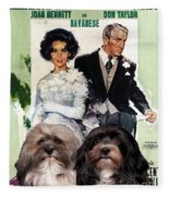 Havanese Art - Father Of The Bride Movie Poster Fleece Blanket