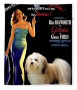 Havanese Art - Gilda Movie Poster Fleece Blanket