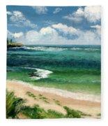 Hawaii Beach Fleece Blanket