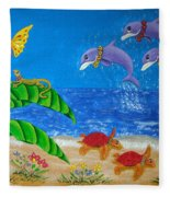 Hawaiian Lei Day Fleece Blanket