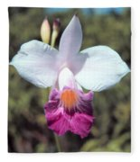 Hawaiian Orchid Fleece Blanket
