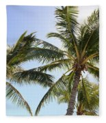 Hawaiian Palm Trees Fleece Blanket