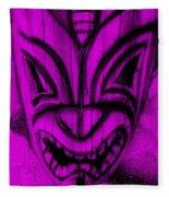 Hawaiian Purple Mask Fleece Blanket