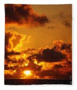 Hawaiian Sunrise Fleece Blanket