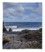 Hawaiian Surf Fleece Blanket