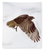 Hawk In Flight Fleece Blanket