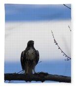 Hawk On Branch Fleece Blanket