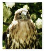 Hawk Portrait Fleece Blanket