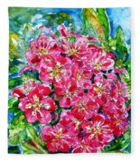 Hawthorn Blossom Fleece Blanket