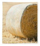 Hay Bale Fleece Blanket