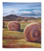 Hay Harvest Fleece Blanket