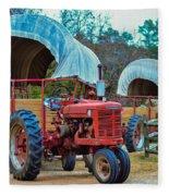 Hay Rides Trailer Fleece Blanket