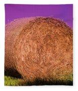 Hay Roll Fleece Blanket