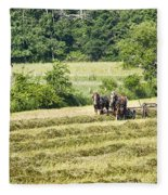 Hay Season Fleece Blanket