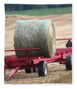 Hay Wagon Fleece Blanket