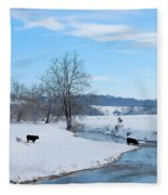 Hays Creek Winter Fleece Blanket